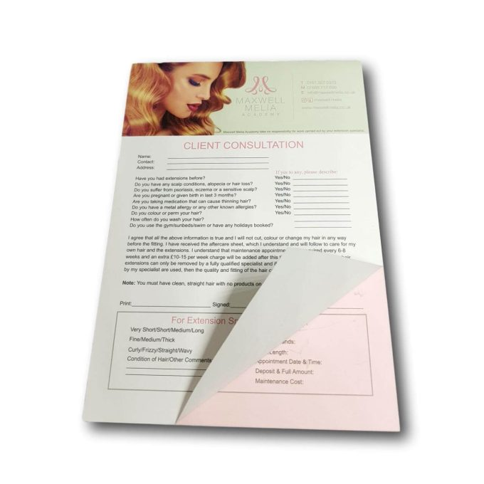 Hair Extensions Consultation Forms